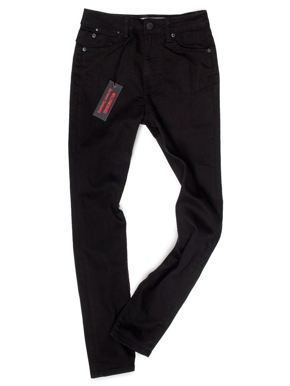 Women's Black High Waisted Jeans Made in USA.