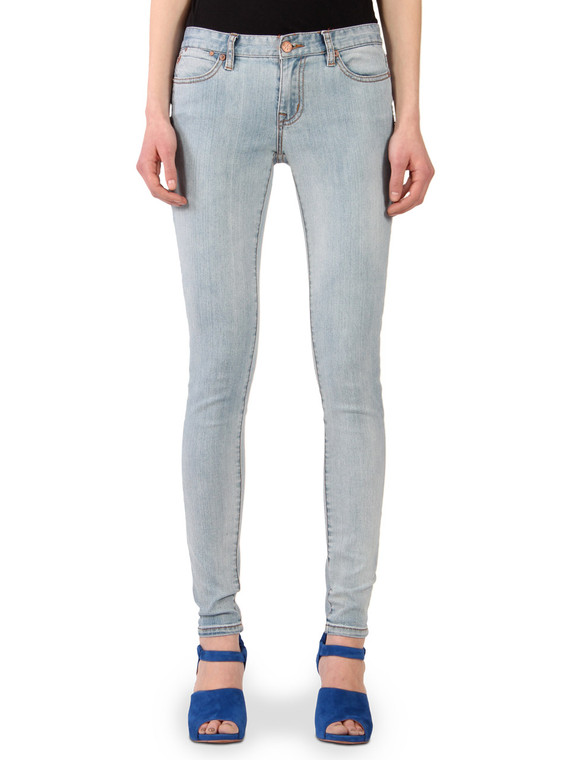 Women's light washed skinny jeans sale.