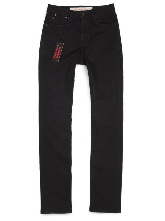 Women's Tube Straight Black American Made Jeans.