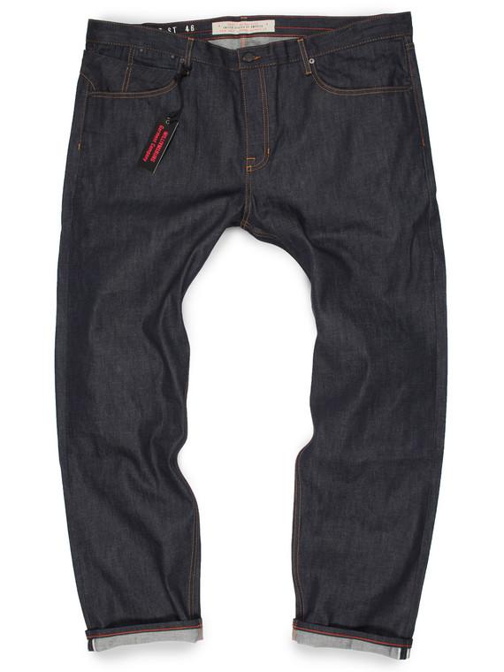 Big Men's Selvedge American made jeans produced in Cone White Oak denim.