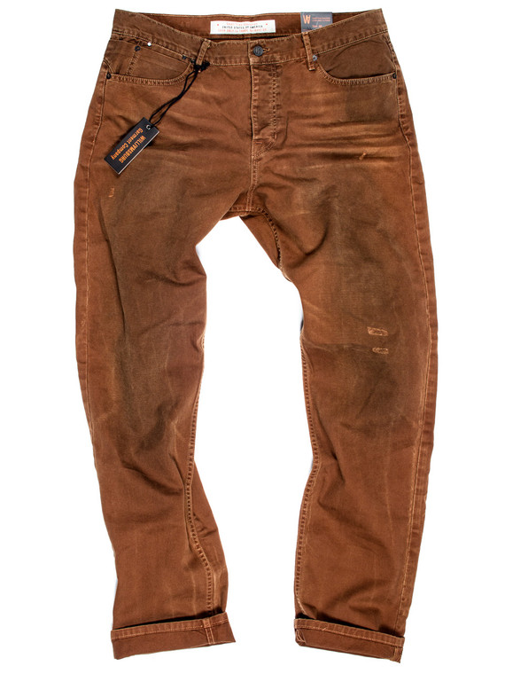 Big men's vintage work pants made in USA - Big and Tall button-fly slim fit.