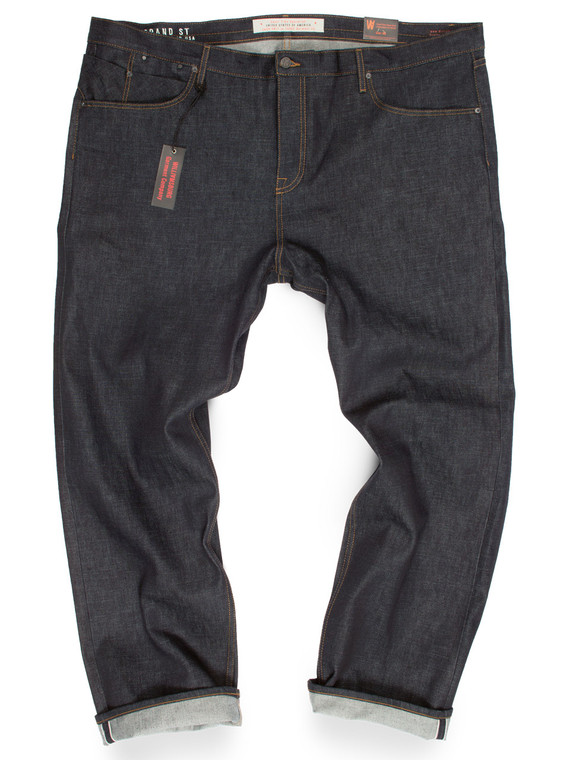 Big Mens button fly 15-oz. selvedge raw denim jeans made in the USA.