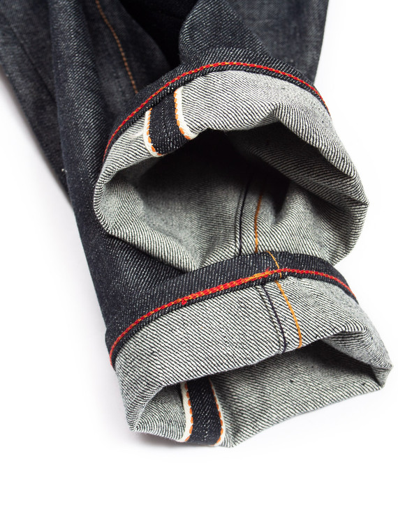 Chainstitch hemming service example on a pair of Gustin jeans