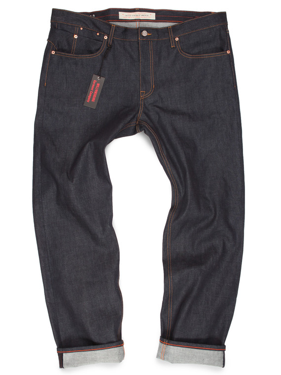 Made-to-order raw denim jeans for big men, handmade in Brooklyn, sizes 40 to 50.