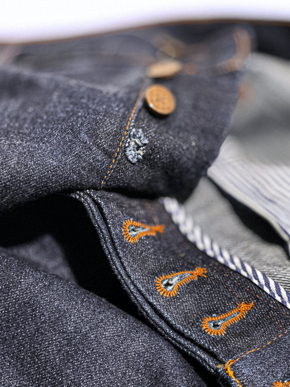 Replace jeans button & repair hole alterations service.