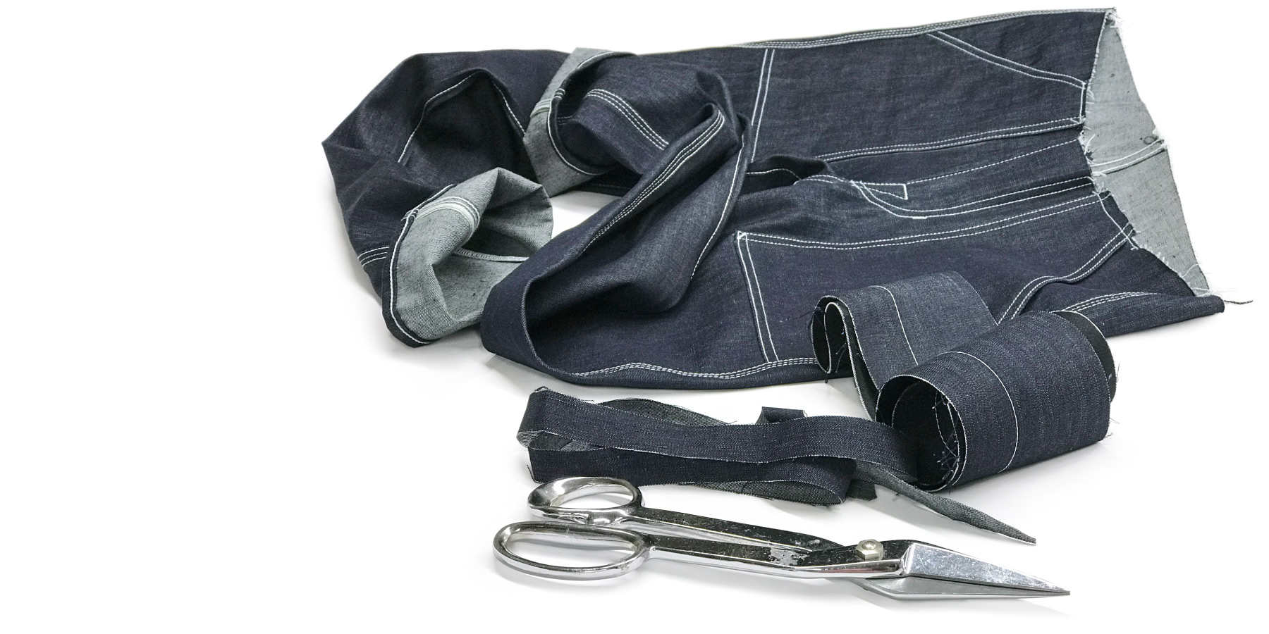 Selvedge custom made jeans in work