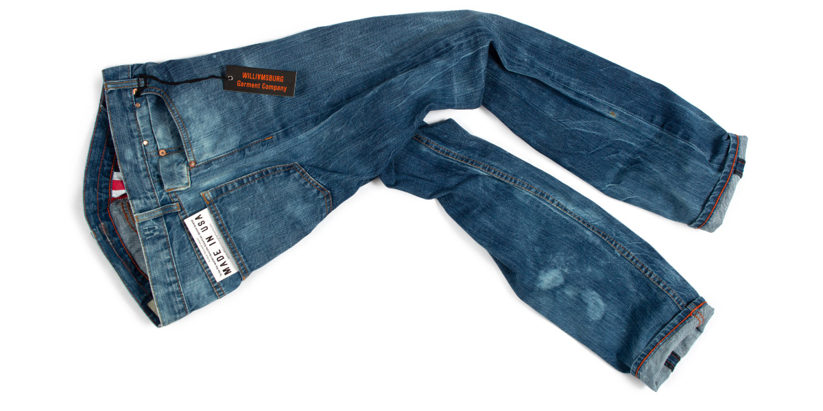 American made jeans sale on bleached denim & alterations