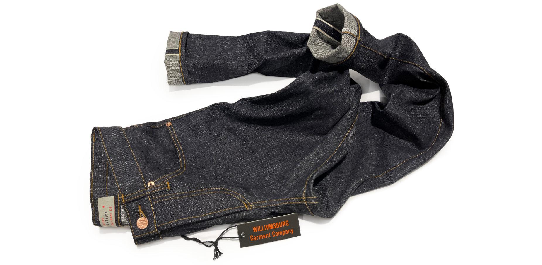 Selvedge 15 oz heavyweight rigid 100 % cotton jeans no stretch women's raw denim jeans custom made in Brooklyn, New York, USA