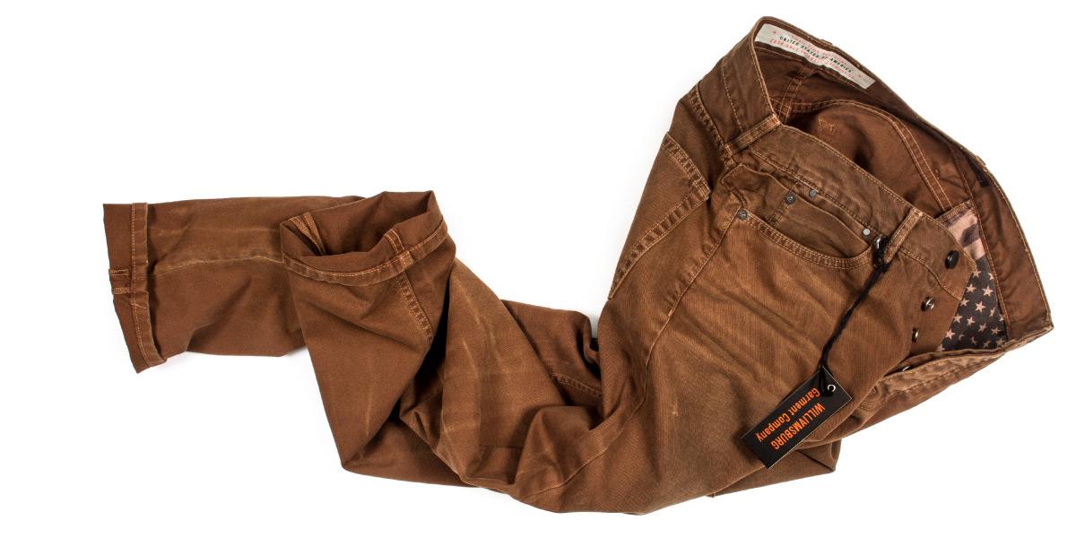 Slim American made vintage work pants with jeans cut