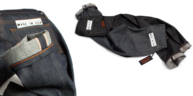williamsburg gray & black selvedge american made raw denim jeans