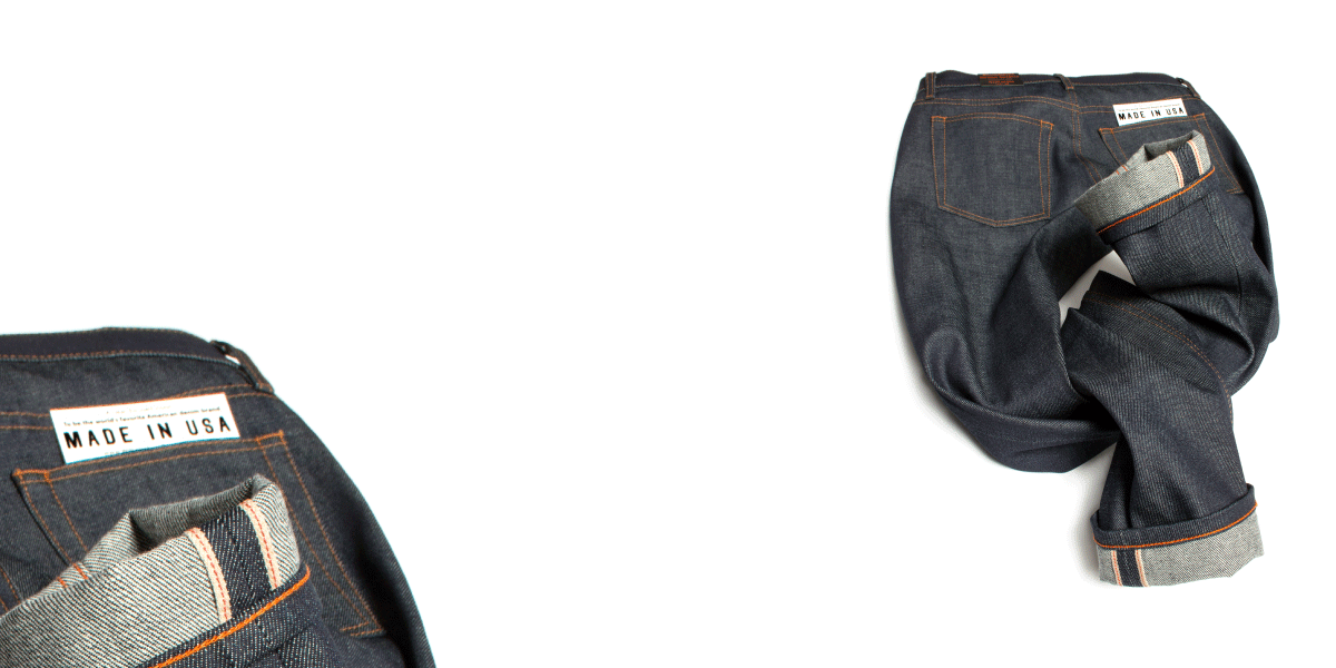 Williamsburg raw denim jeans made in the USA