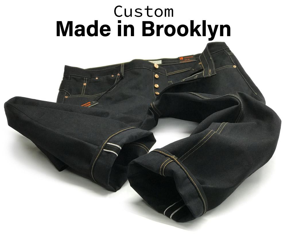 Handmade by designer black selvedge custom jeans