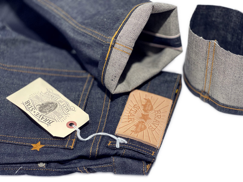 Customized hemming alterations on Brave Star selvage jeans