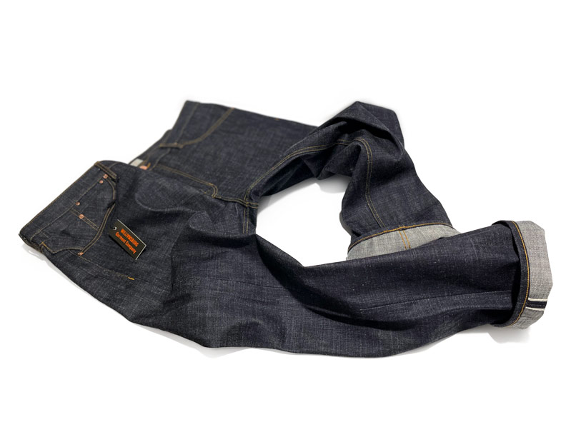 Fit for bullies, big guys heavyweight Japanese selvedge custom jeans size 48 .