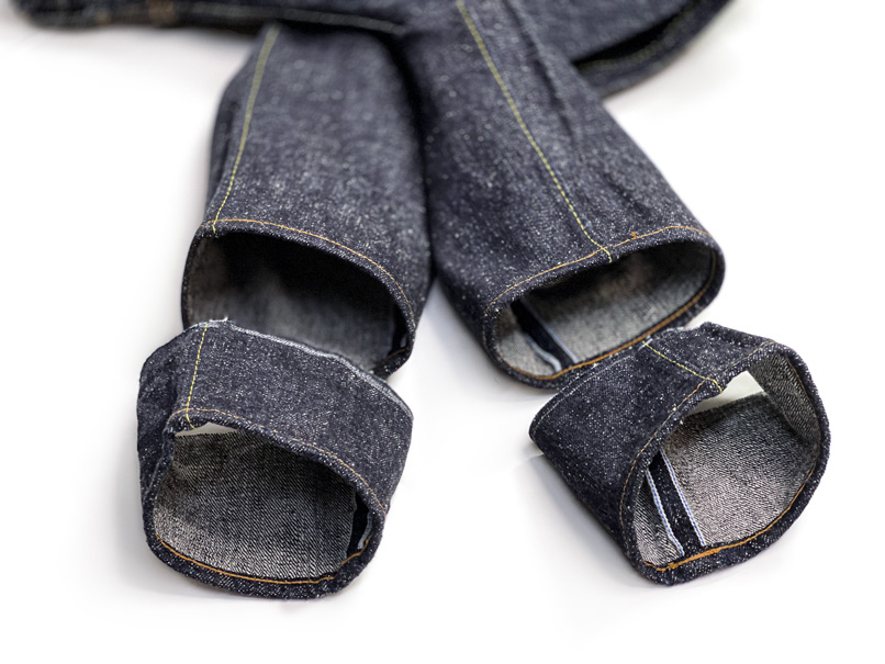 Review lots of our work examples hemming jeans with chain stitching