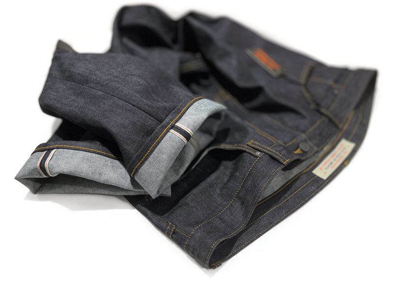 Big men's stretch selvedge custom jeans made in New York City