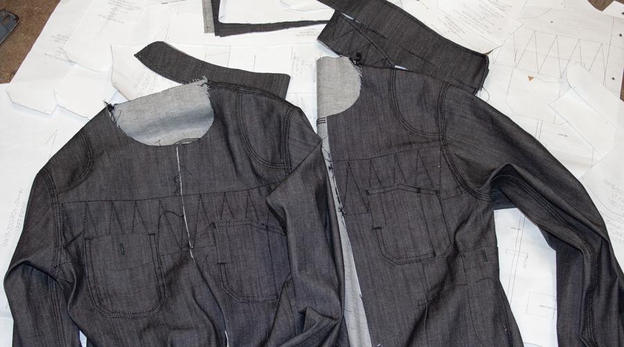 Handmade in brooklyn denim shirts by designer