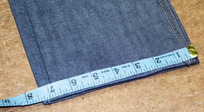 How to measure leg opening for hemming jeans