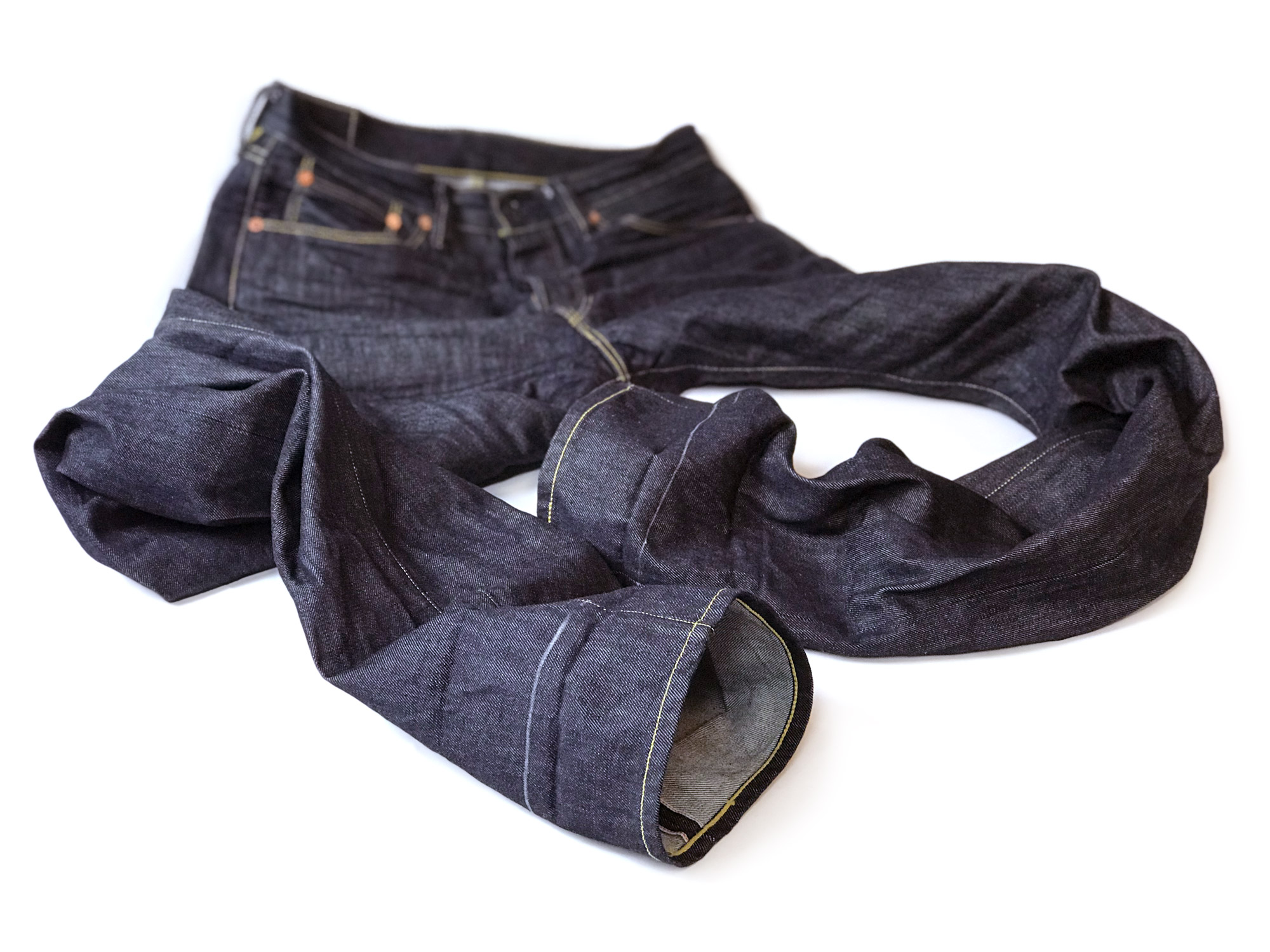 Leroy Strauss & Co. jeans before hemming