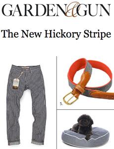 Garden & Gun Hickory Stripe pants and belt