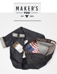 Made in USA raw jeans with American flag pocket bags