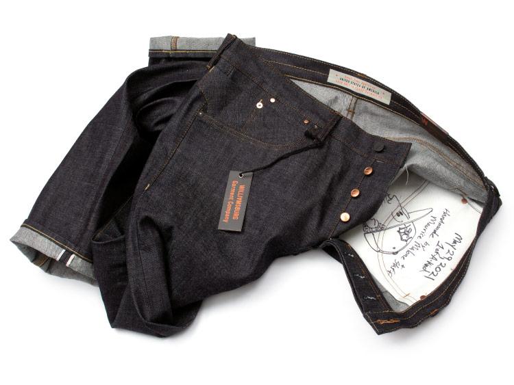 Men's handmade Size 44 selvedge raw denim jeans made in Brooklyn