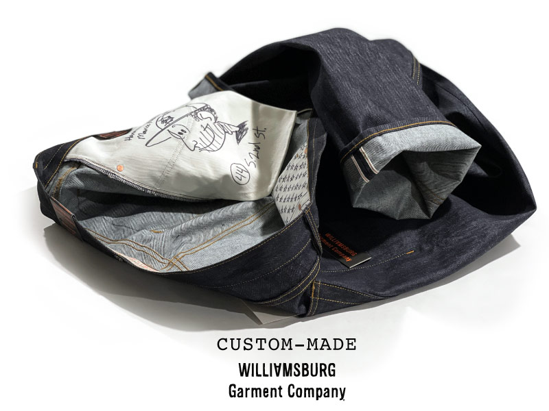 Custom made by hand size 44 selvedge jeans in 13oz. raw denim