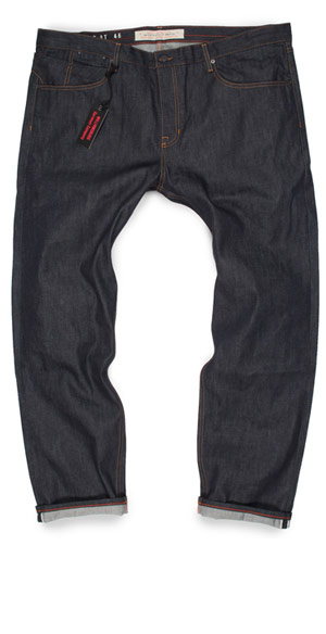 Size 46 jeans fit guide image of big mens slim fit