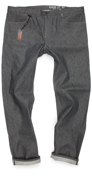 American made size 50 jeans gray selvedge for big & tall