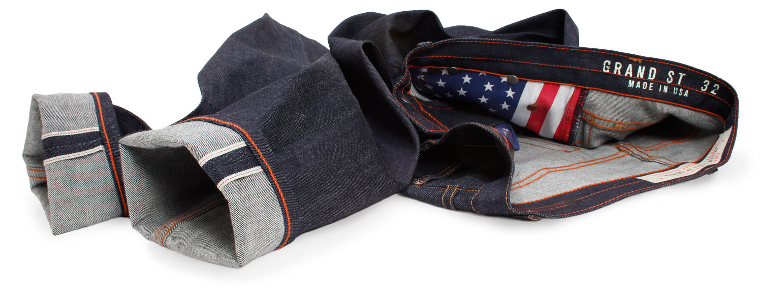 Stretch selvedge raw denim American made jeans by Williamsburg Garment Co.