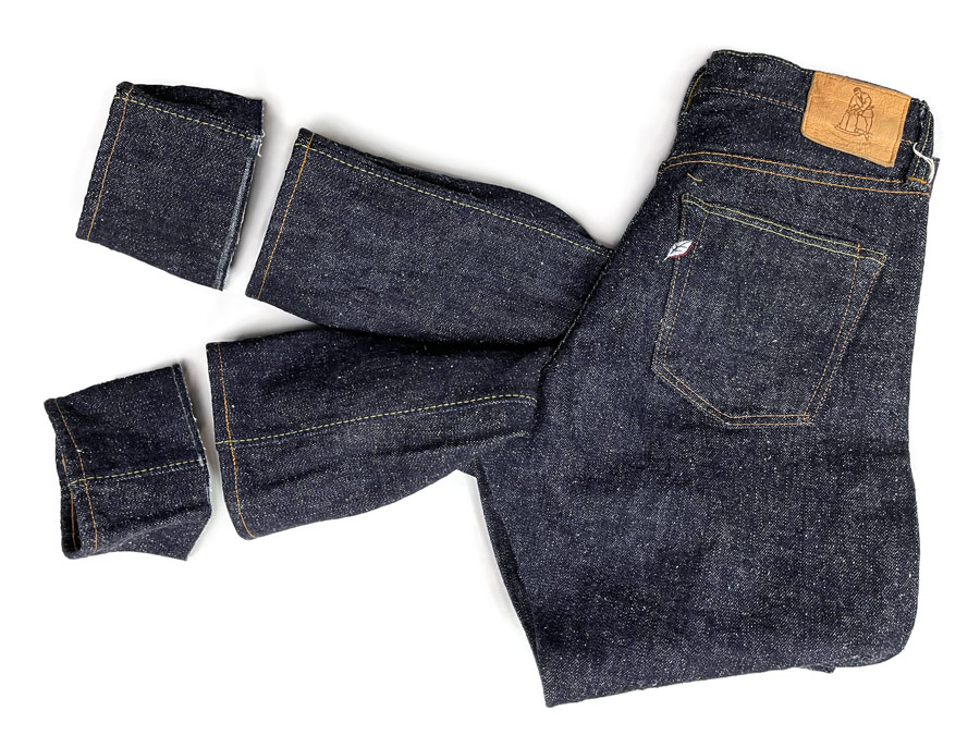 Chain stitch hemming service reviewed on Syoaia Japan Blue jeans