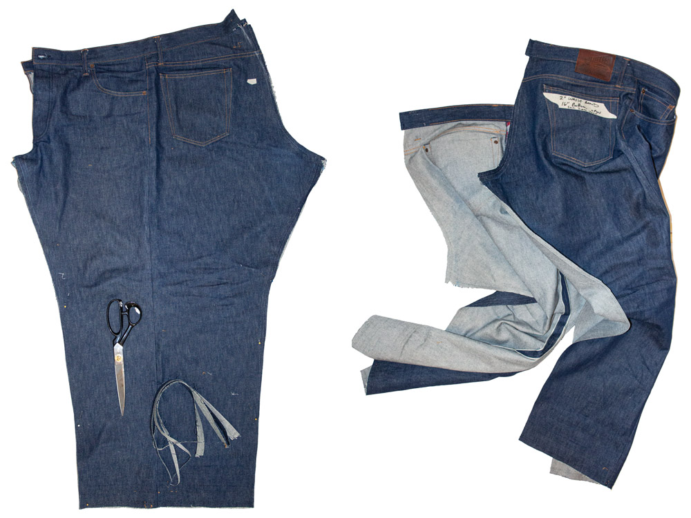 How we take in the waist of jeans and taper them professionally.