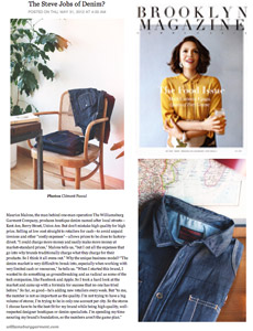 Brooklyn Magazine news article The Steve Jobs of Denim