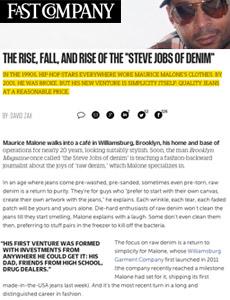 Williamsburg's Maurice Malone the Steve Jobs of Denim