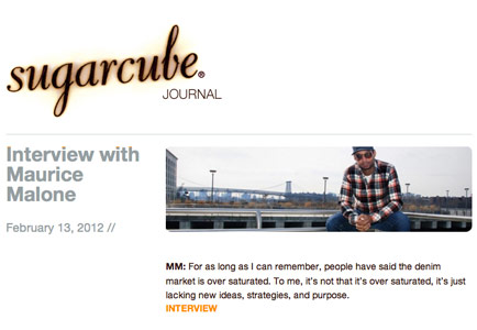 Sugercube interviews denim designer Maurice Malone