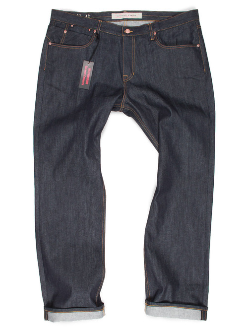 Big Mens Raw Denim Relaxed Fit Made In Usa Big Tall Jeans