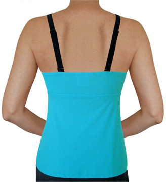 V Insert Maternity Tankini Top - Tropical