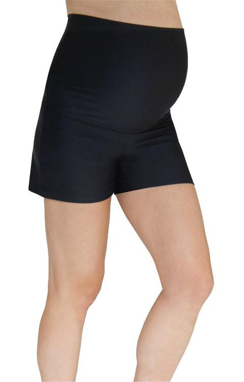 92b9cc7a1c Maternity Swim Shorts - Black - Mermaid Maternity