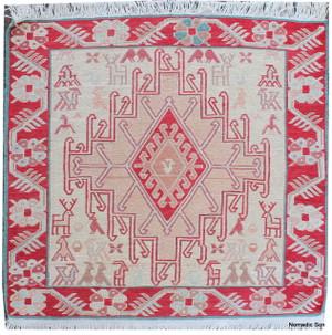 Small silk soumak (#240) 50*50cm