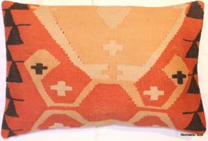 Vintage kilim cover rectangle (40*60cm) #KR66