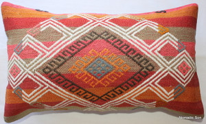 Vintage kilim cover - small rectangle #SR36