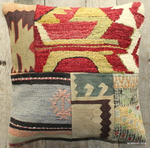 Vintage kilim cover - small (40*40cm) #488