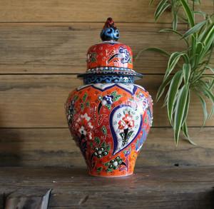 Kabartma Style Lidded Jar - Small - 20cm