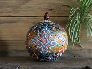 Kabartma Style Globe Jar - Small - 15cm