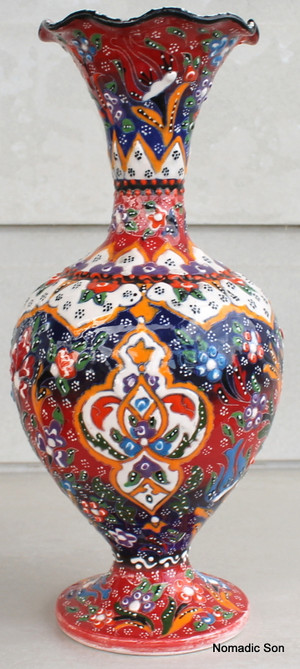 Kabartma Vase - Medium - 30cm 'Veinc'