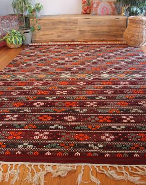 Oversized Vintage Turkish kilim (#L7) 216*295cm