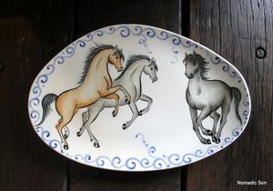 Porcelain Horse Plate