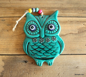 'Firuze' Wall Hanging - Plump Owl