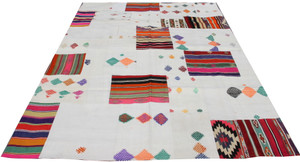 Natural Patchwork Kilim (#K199) 203*295cm