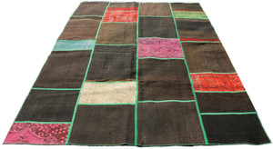 Natural Patchwork Kilim (#178) 197*290cm